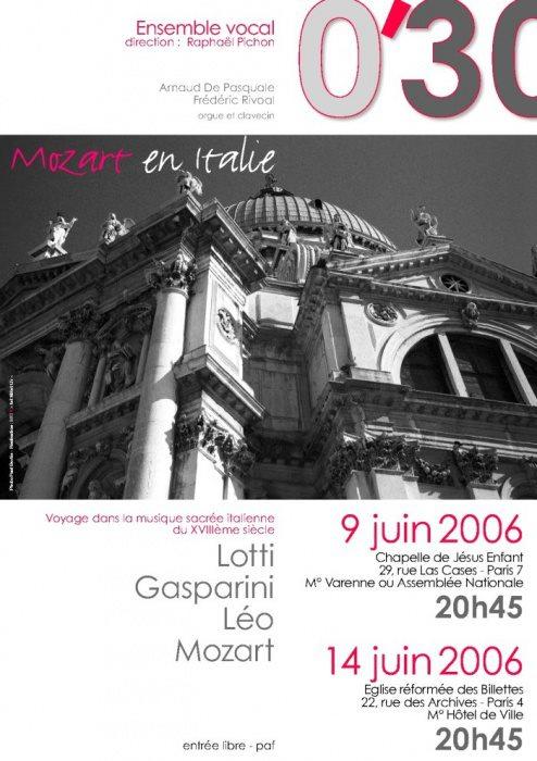 Affiche Mozart Italie