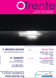 Affiche Mendelssohn Taneiev