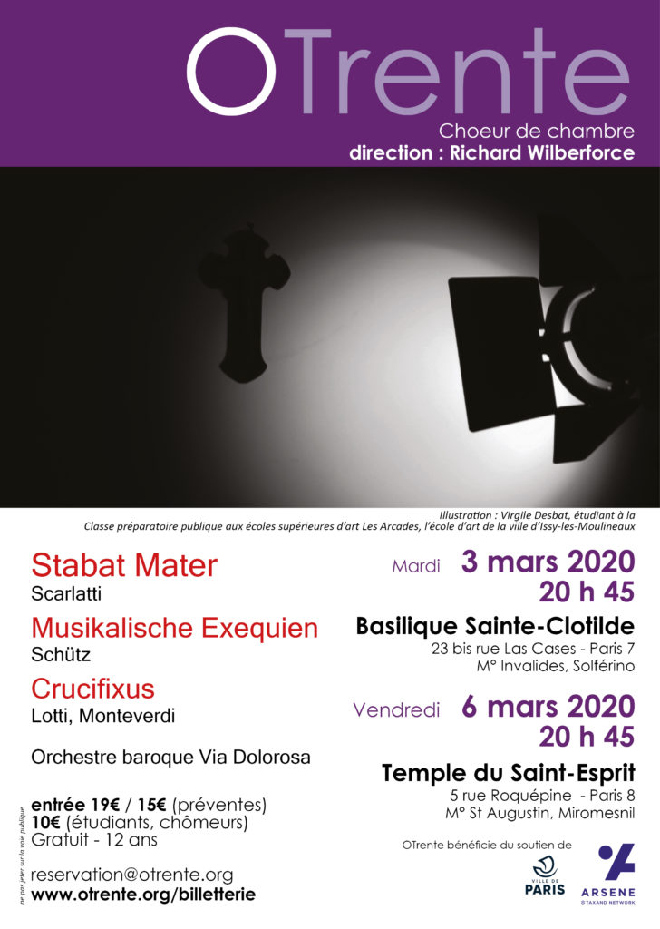 Chœur de chambre OTrente - Concert Mars 2020